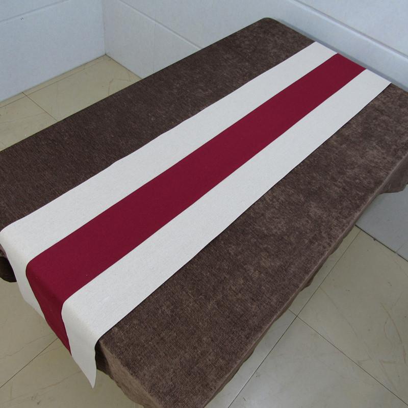 现代中式复古禅意桌旗 棉麻布茶席茶帘茶巾茶台布长条图片