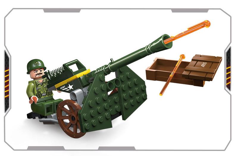 启蒙积木玩具事兼容乐高拼插拼装飞机二战坦克模型大炮特种部队