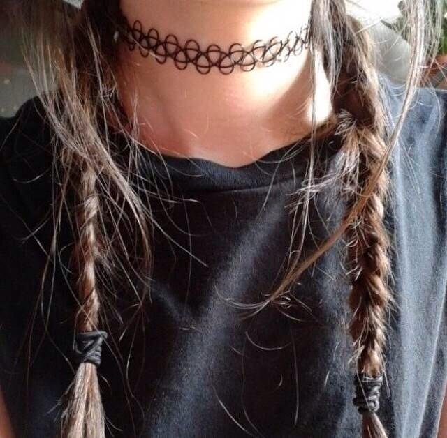 彩丽馆水原希子kiko同款原宿编织刺青纹身链项圈脖圈项链手链戒指 x图片