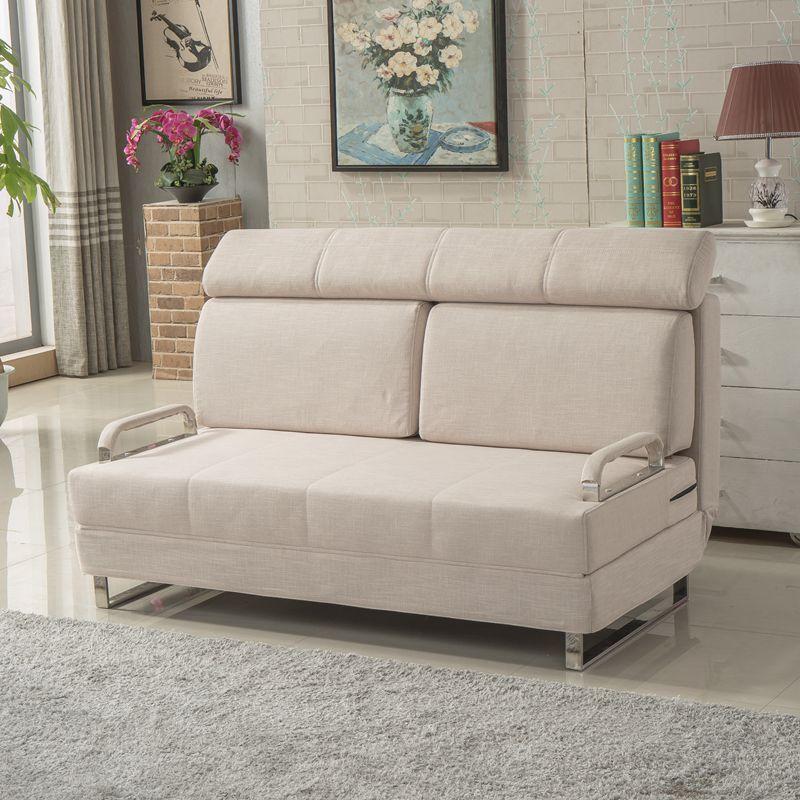 美梦居 客厅小户型多功能沙发床 懒人布艺多功能沙发床可折叠可拆洗1.图片