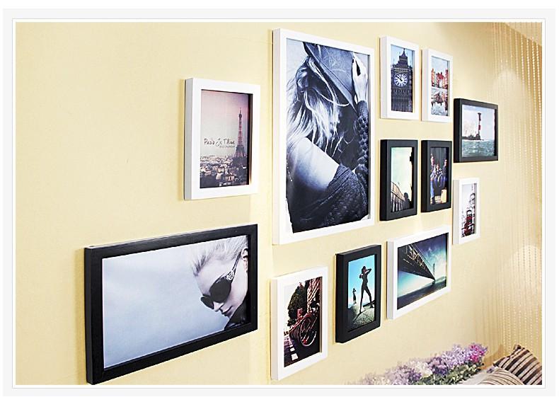 柠檬树 客厅实木照片墙相框墙欧式卧室结婚照挂墙相片图片