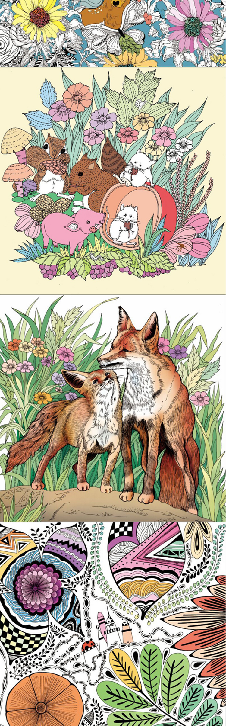 创意涂鸦填色图书籍 韩国艺术绘画本秘密花园魔法森林奇.