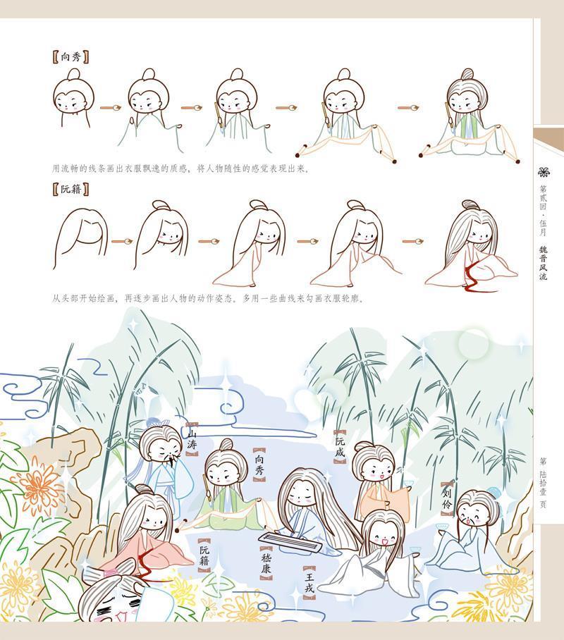 123 萌萌哒q版古风简笔画
