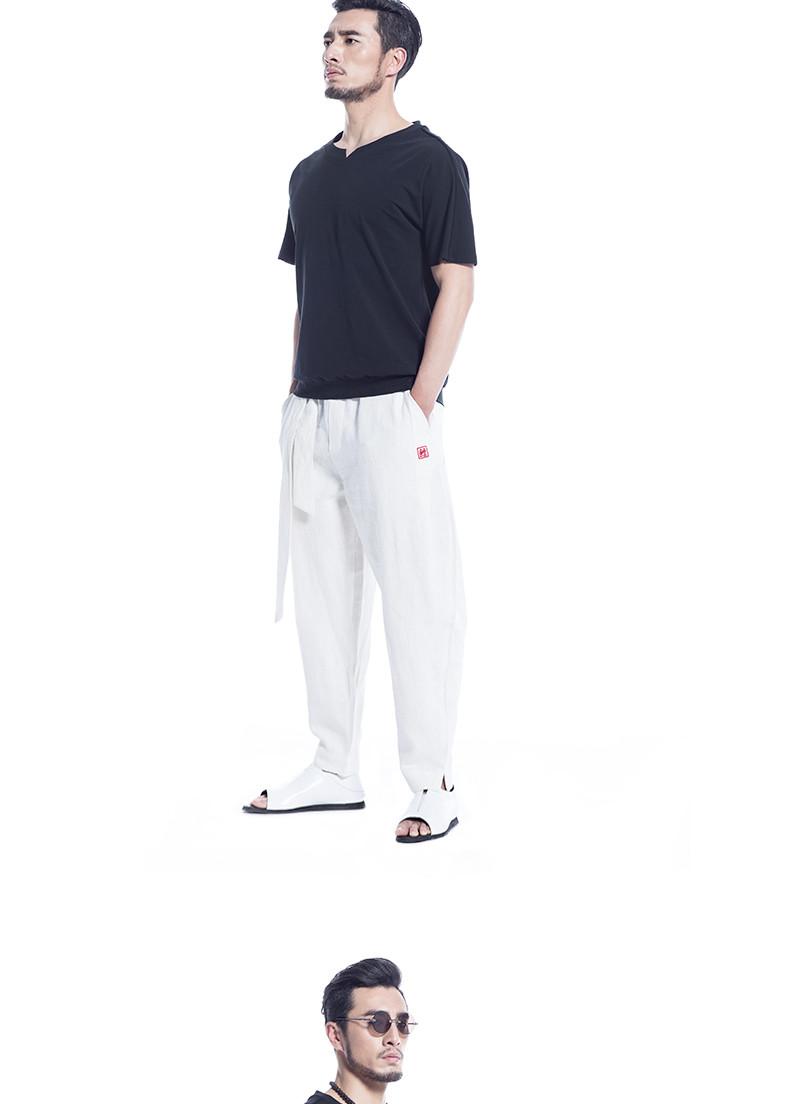 意树2016夏季新款男装休闲简约短袖t恤中国风服装时尚