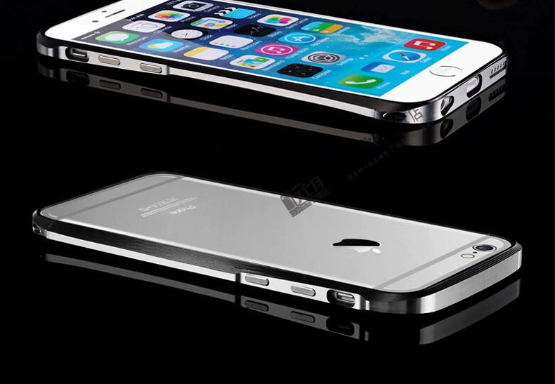 苹果6plus手机壳 双色小蛮腰金属边框 苹果6plus手机套 iphone6plus保
