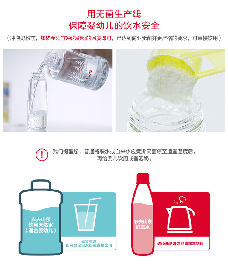【苏宁专供】农夫山泉饮用天然水(适合婴幼儿) 1*1L瓶装
