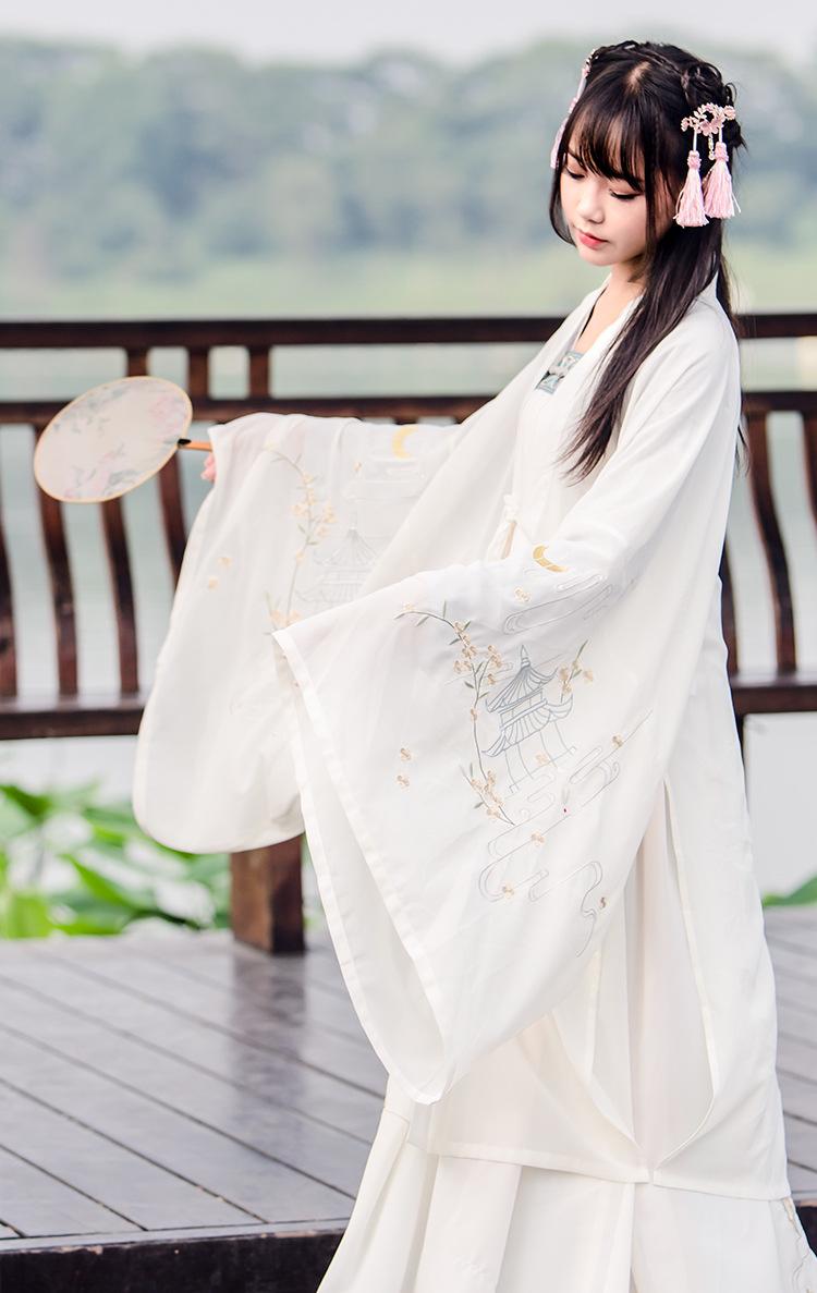 CTRLCITY新款女汉服古装古风女装汉元素刺绣