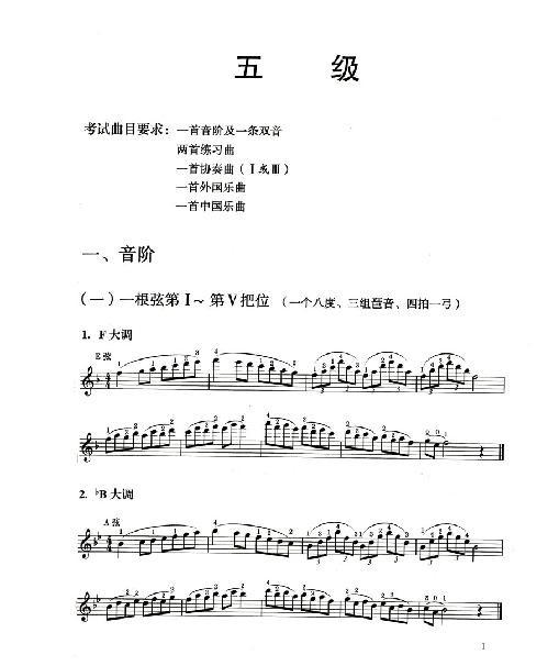 考级全国通用教材 小提琴