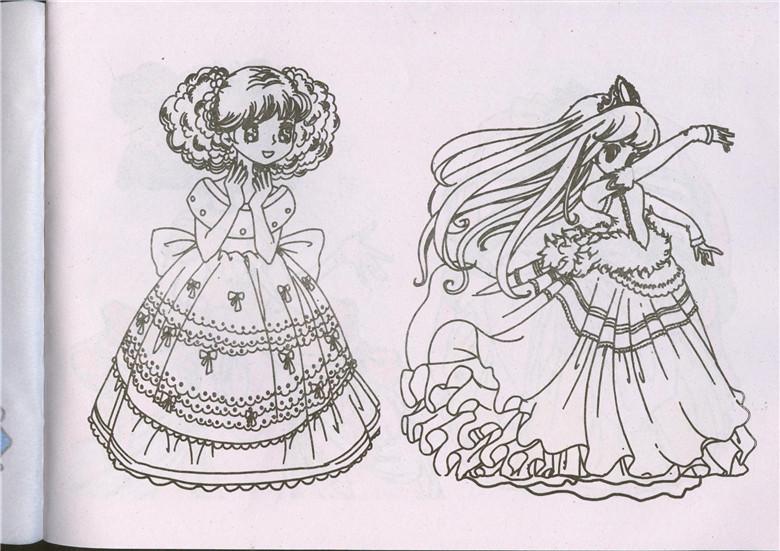 《美少女简笔画4本包邮小手学画美丽公主漂亮