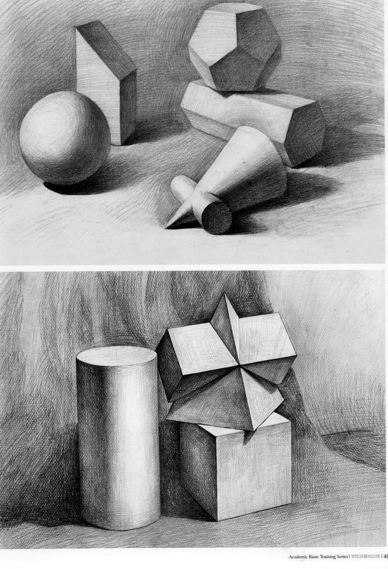 明暗素描几何体步骤图片