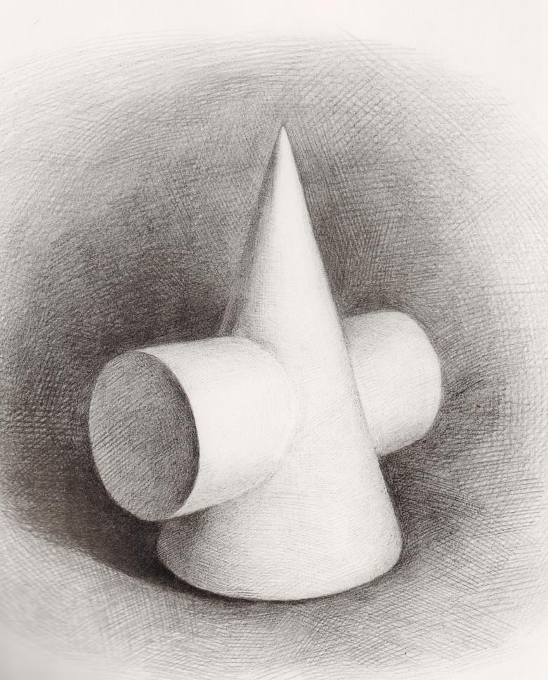 正版 绘画教程书籍 单个几何体明暗素描范本1 明暗素描范本 黄金典藏