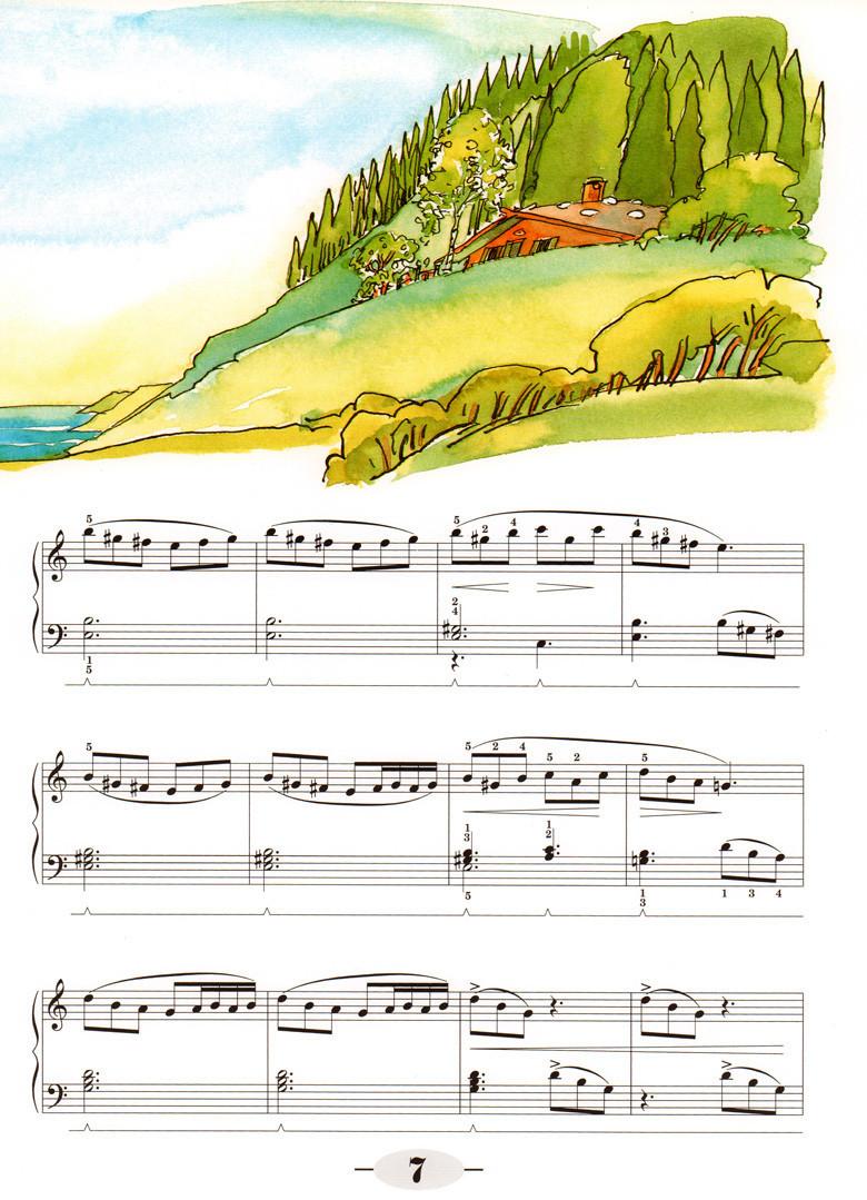 初学者钢琴弹奏谱