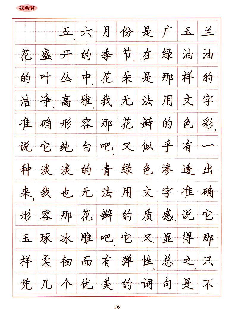 《校长小学生硬笔书法练习教育江苏版六故事小学正版写字年级图片