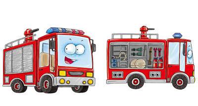 119消防安全简笔画