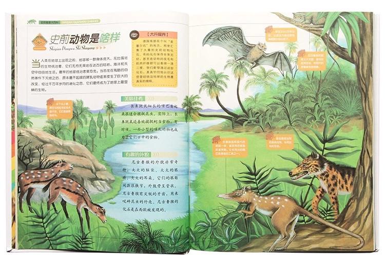手绘插画鹿和书