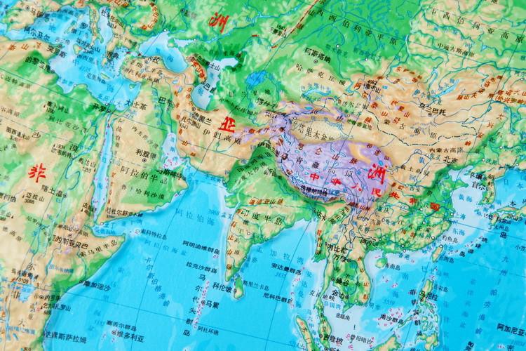 《世界地形图 四开2014最新
