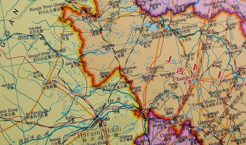 中国地图挂图