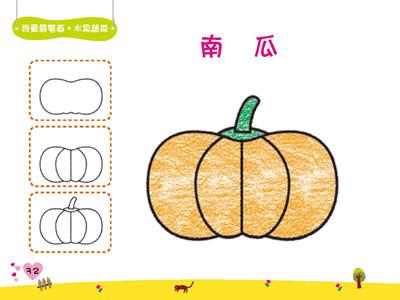 苹果西瓜简笔画