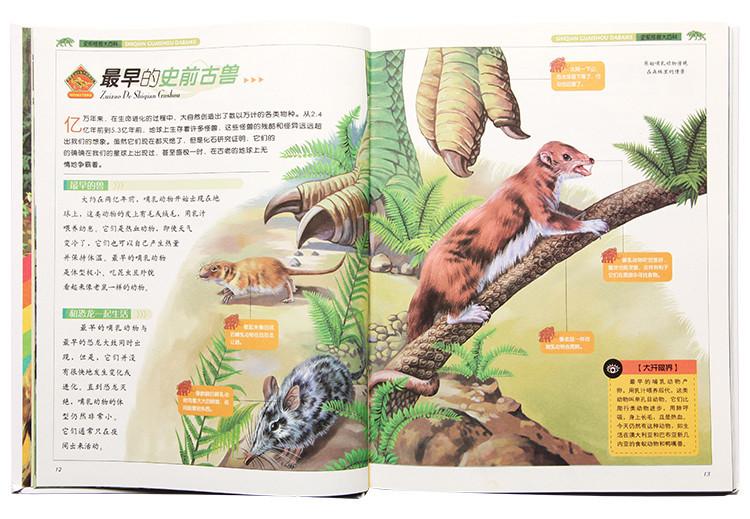 图画书 彩书坊:史前怪兽大百科  目录 part 01 走进怪兽世界 史前动物