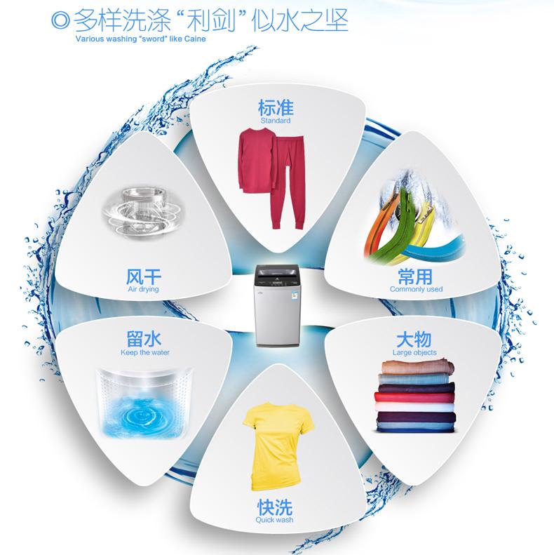 新能效2级洗衣机、欧洲设计风格、钢化玻璃盖板、镜面不锈钢宝石内桶、双过滤网-加倍洁净!