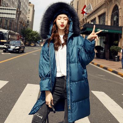 芷臻zhizhen羽绒服女中长款2019新款时尚加厚宽松白鸭绒宽松外套潮