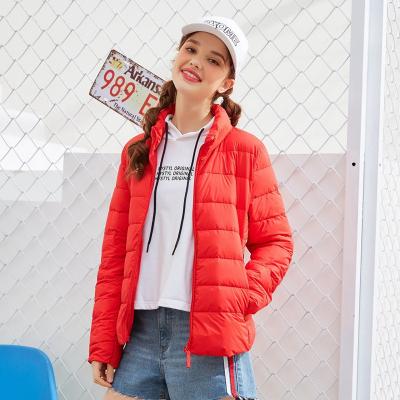 美特斯邦威棉服女冬新时尚女休闲K系列超轻立领棉服