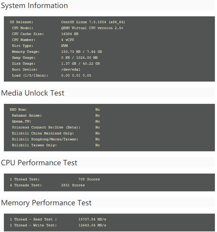 羊毛党之家 #测评#EdgeNat – 4核 8G内存 40G SSD 4M出口 免费体验韩国首尔LG KVM VPS 附简单测评报告