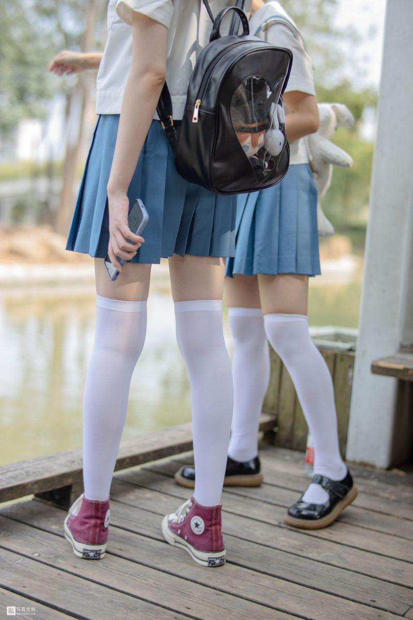 【森萝财团】 森萝财团写真 – JKFUN-025 默陌&Aika 80D白丝过膝袜 [93P-1.60GB] JKFUN 第3张