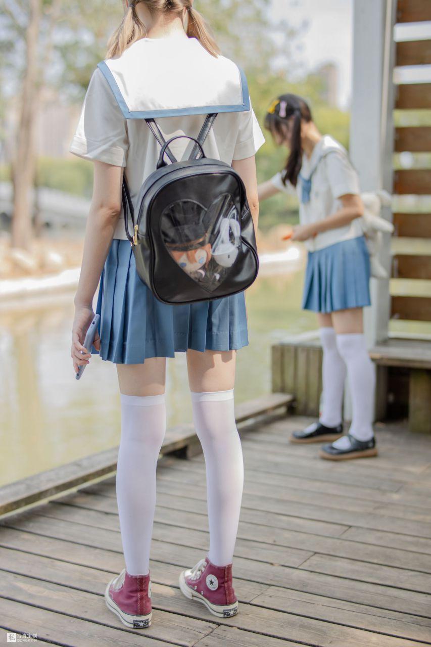 【森萝财团】 森萝财团写真 – JKFUN-025 默陌&Aika 80D白丝过膝袜 [93P-1.60GB] JKFUN 第2张