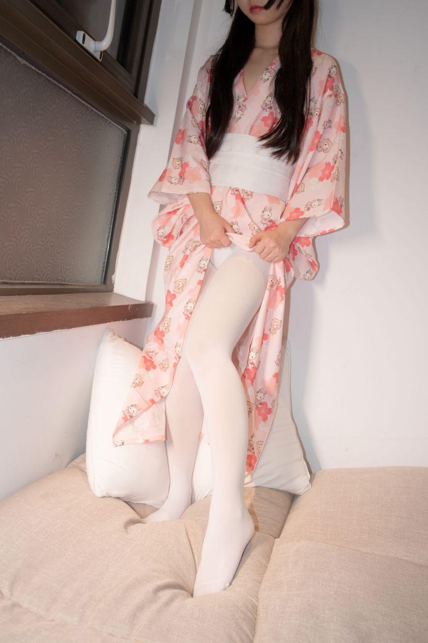 【森萝财团】爱花写真-ALPHA-014 白丝 樱花兔子和服浴衣 [76P-823MB] 森萝财团 第4张