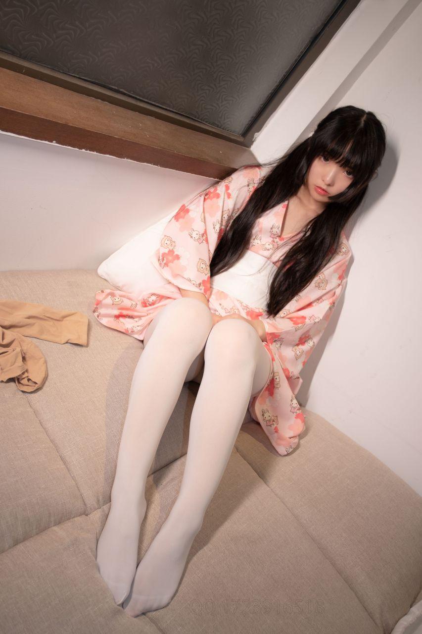【森萝财团】爱花写真-ALPHA-014 白丝 樱花兔子和服浴衣 [76P-823MB] 森萝财团 第2张