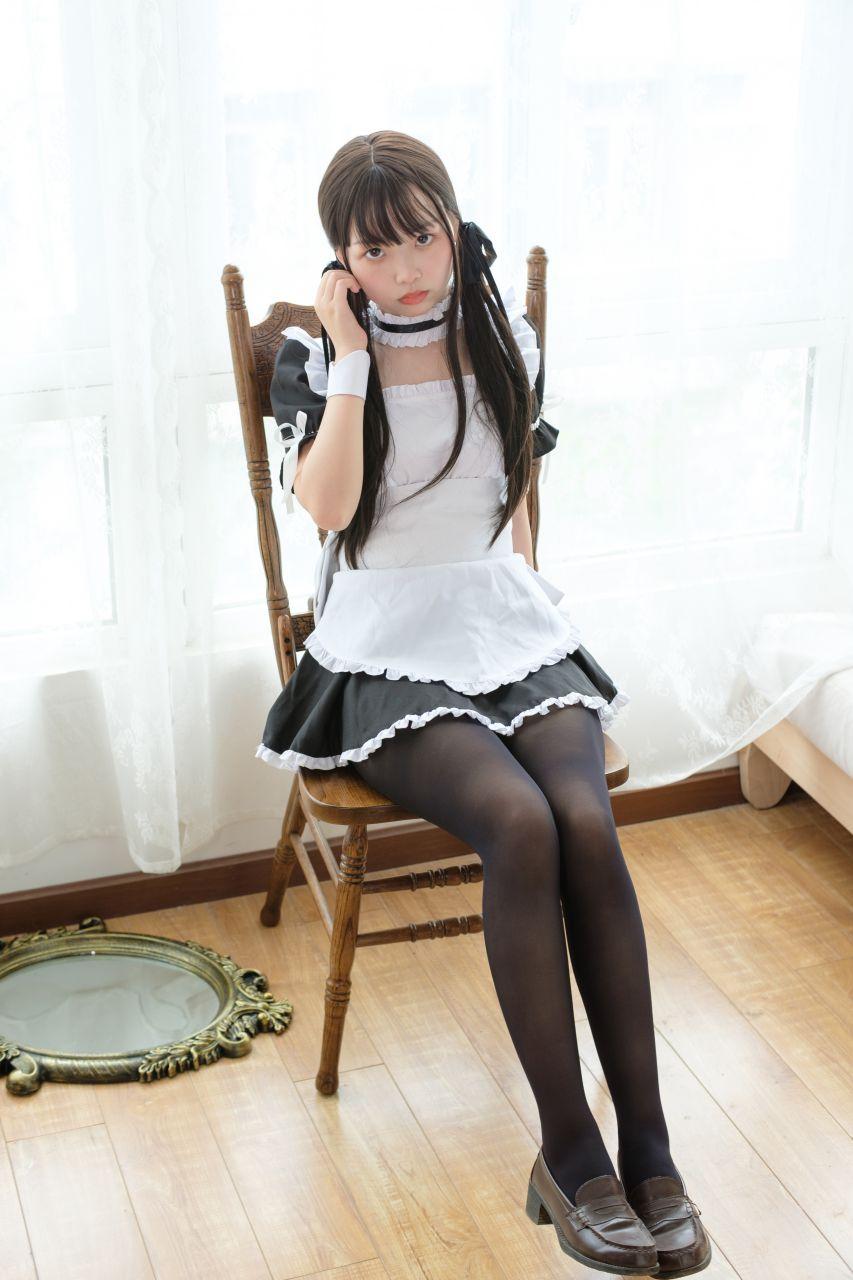 【森萝财团】森萝财团写真 – X-030 黑丝女仆 [86P-1V-1.67GB] X系列 第5张