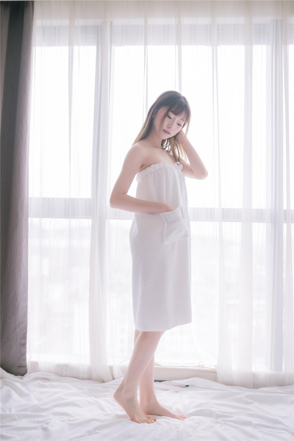 【兔玩映画】vol.18-纯白浴巾 兔玩映画 第31张
