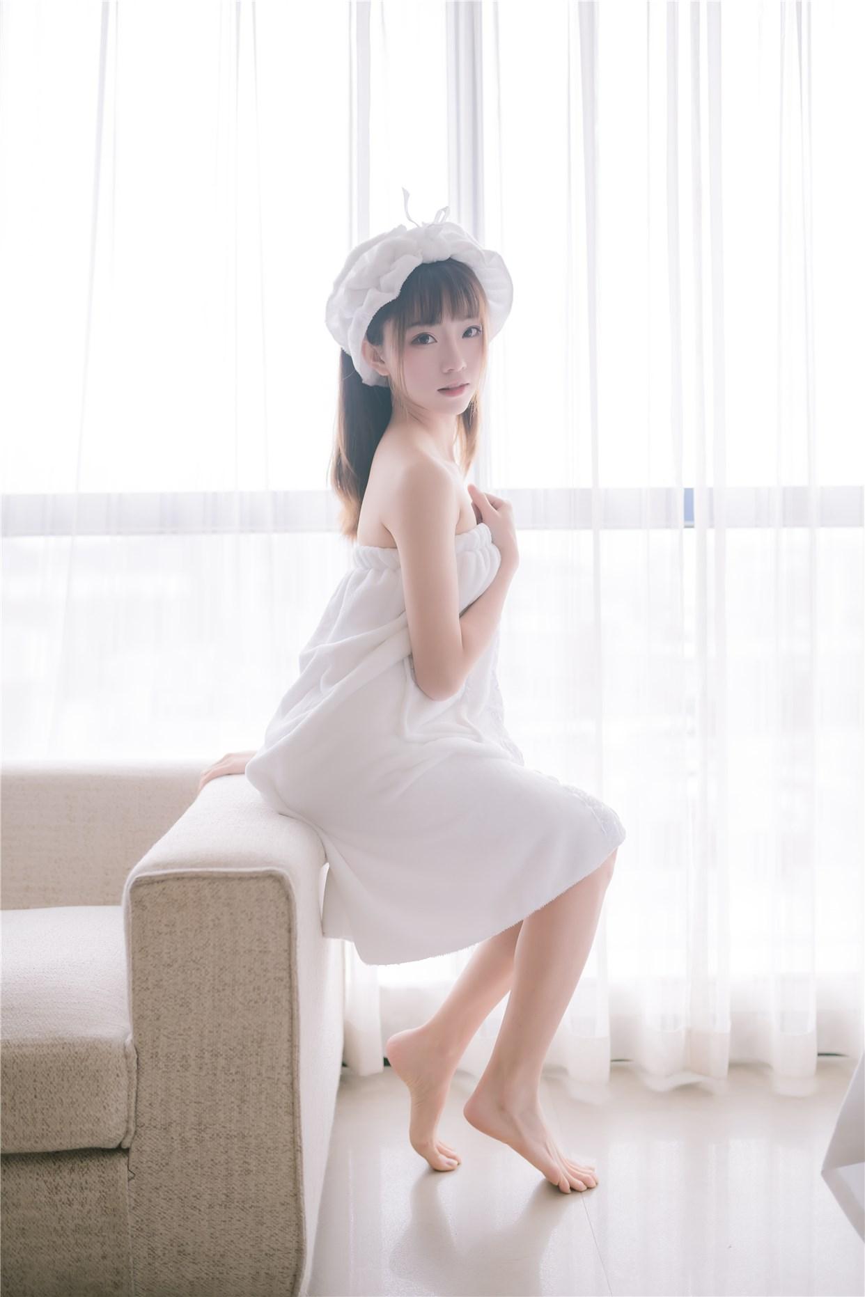 【兔玩映画】vol.18-纯白浴巾 兔玩映画 第21张