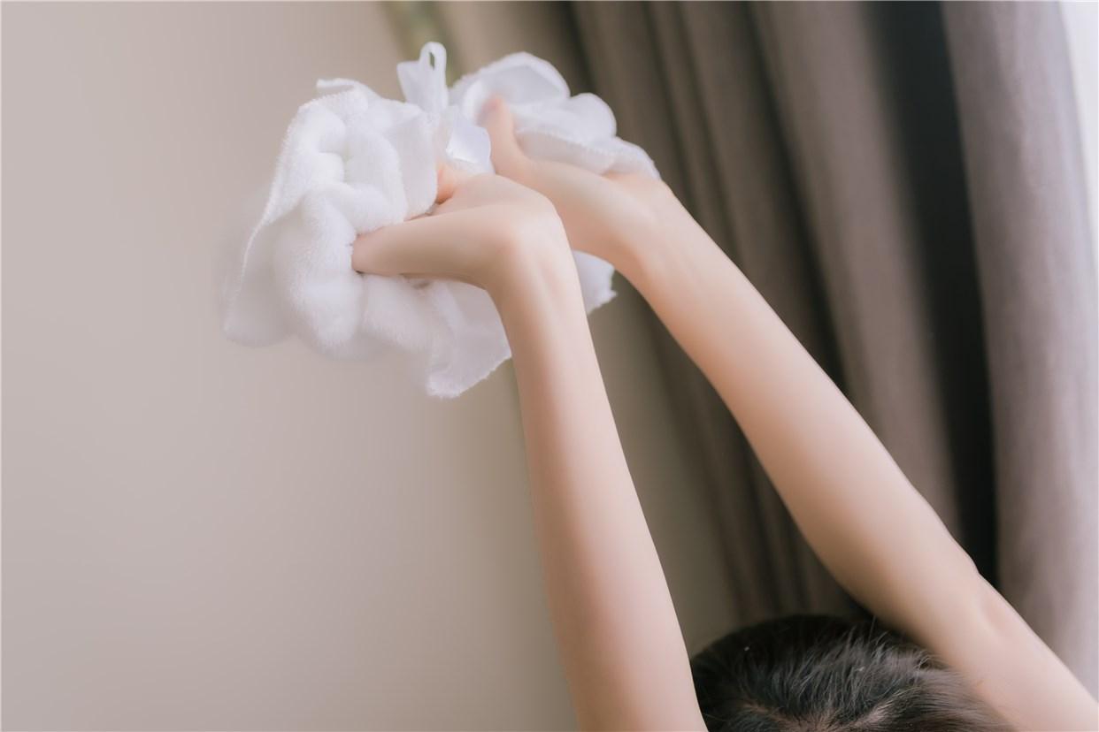 【兔玩映画】vol.18-纯白浴巾 兔玩映画 第19张