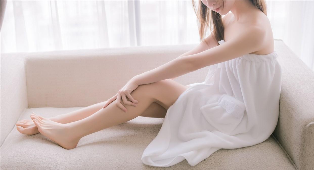 【兔玩映画】vol.18-纯白浴巾 兔玩映画 第4张