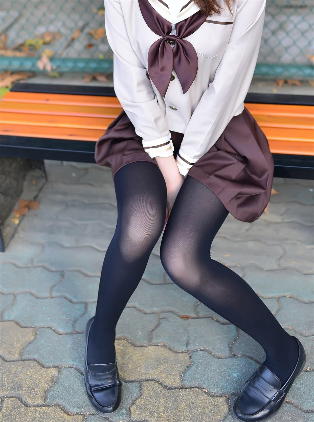 【兔玩映画】冬天里的JK黑丝 兔玩映画 第13张
