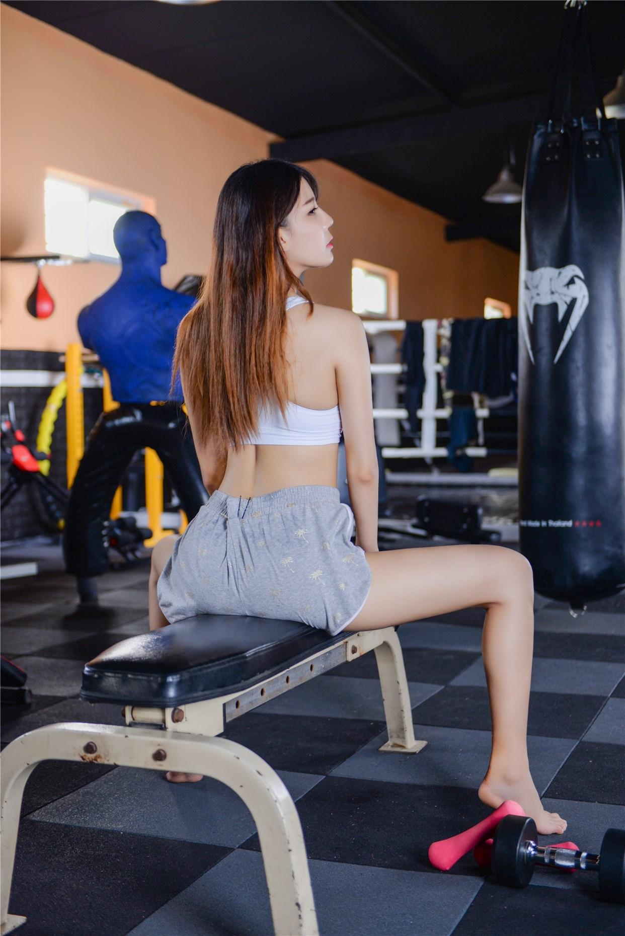 【兔玩映画】健身房的美少女 兔玩映画 第30张