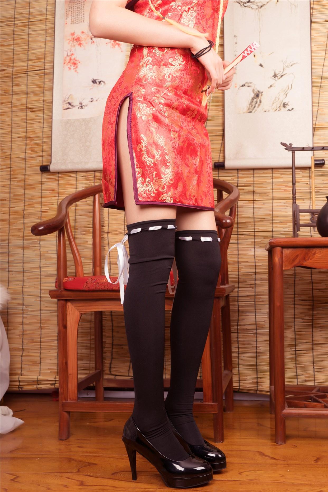 【兔玩映画】红色旗袍 兔玩映画 第32张