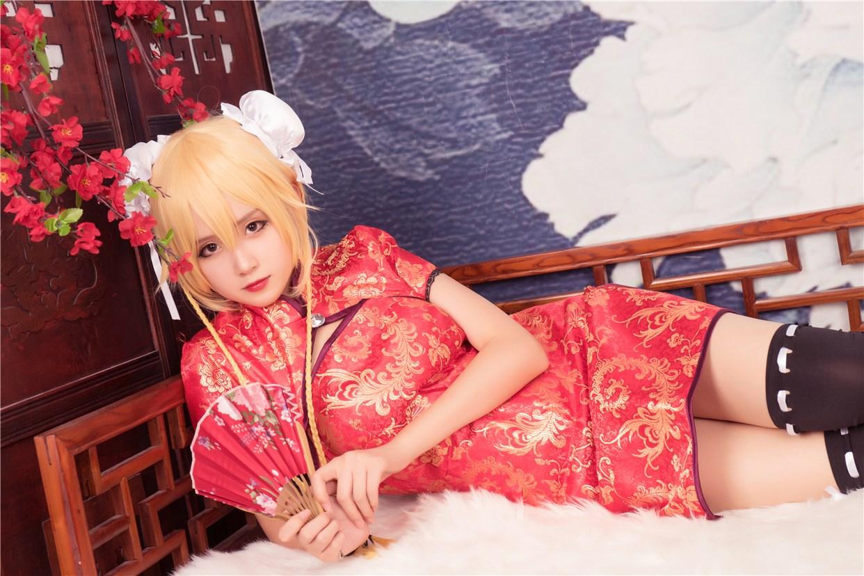 【兔玩映画】红色旗袍 兔玩映画 第24张