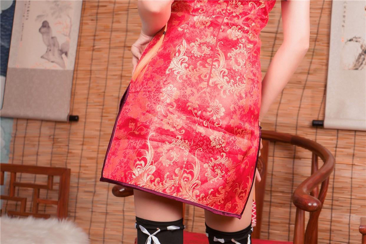 【兔玩映画】红色旗袍 兔玩映画 第12张