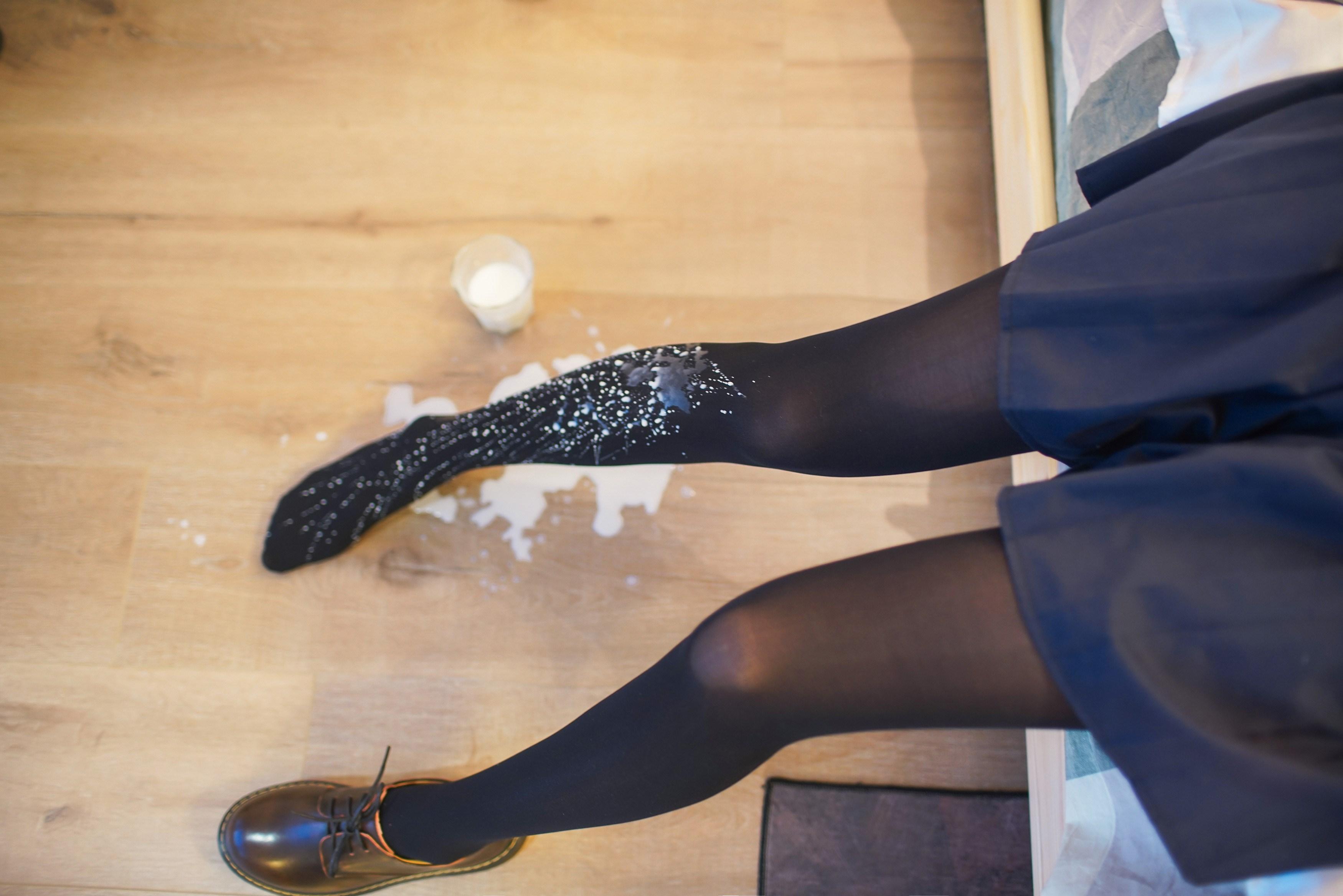 【兔玩映画】牛奶JK连裤袜 兔玩映画 第29张
