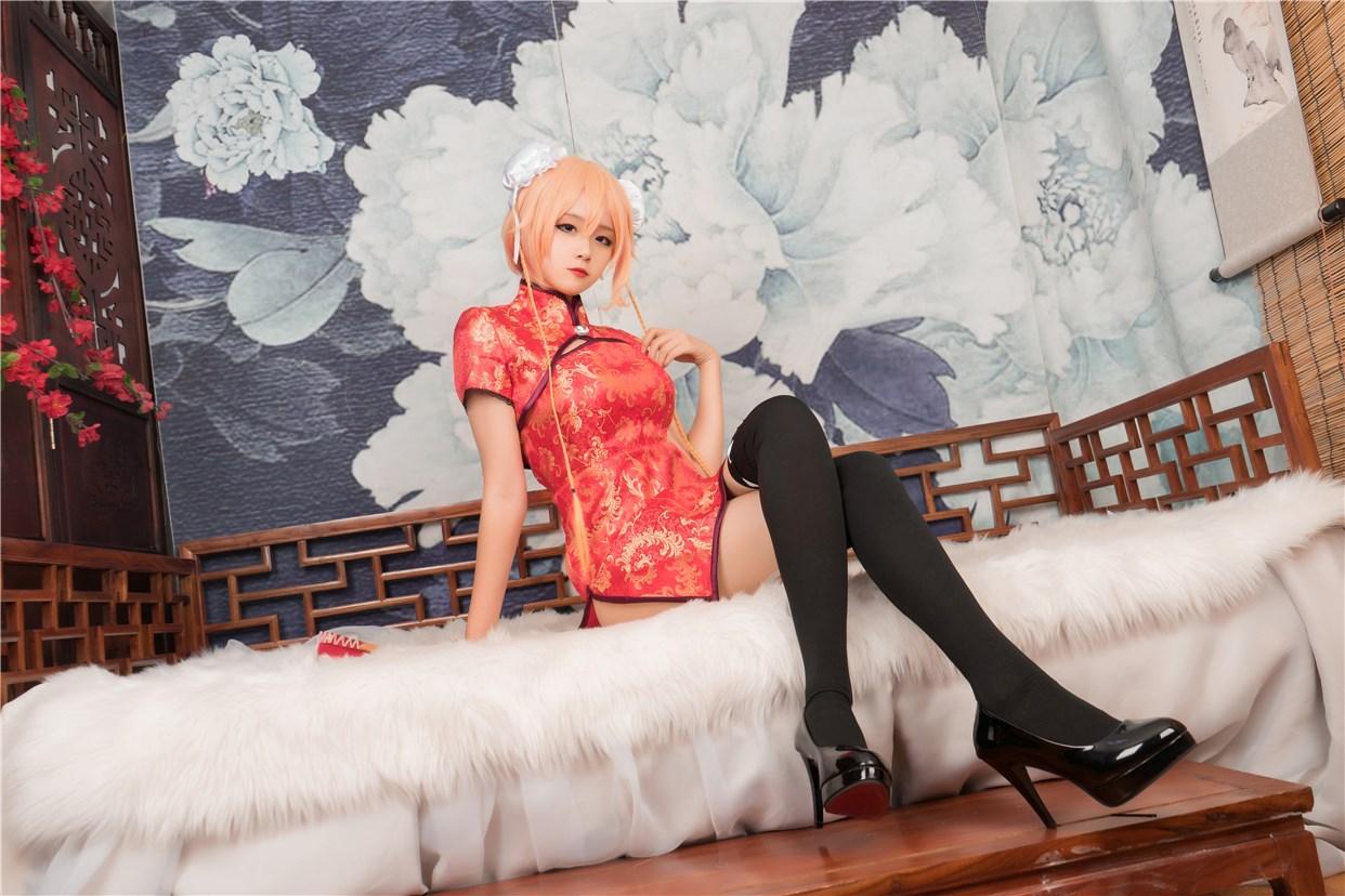 【兔玩映画】红色旗袍 兔玩映画 第6张