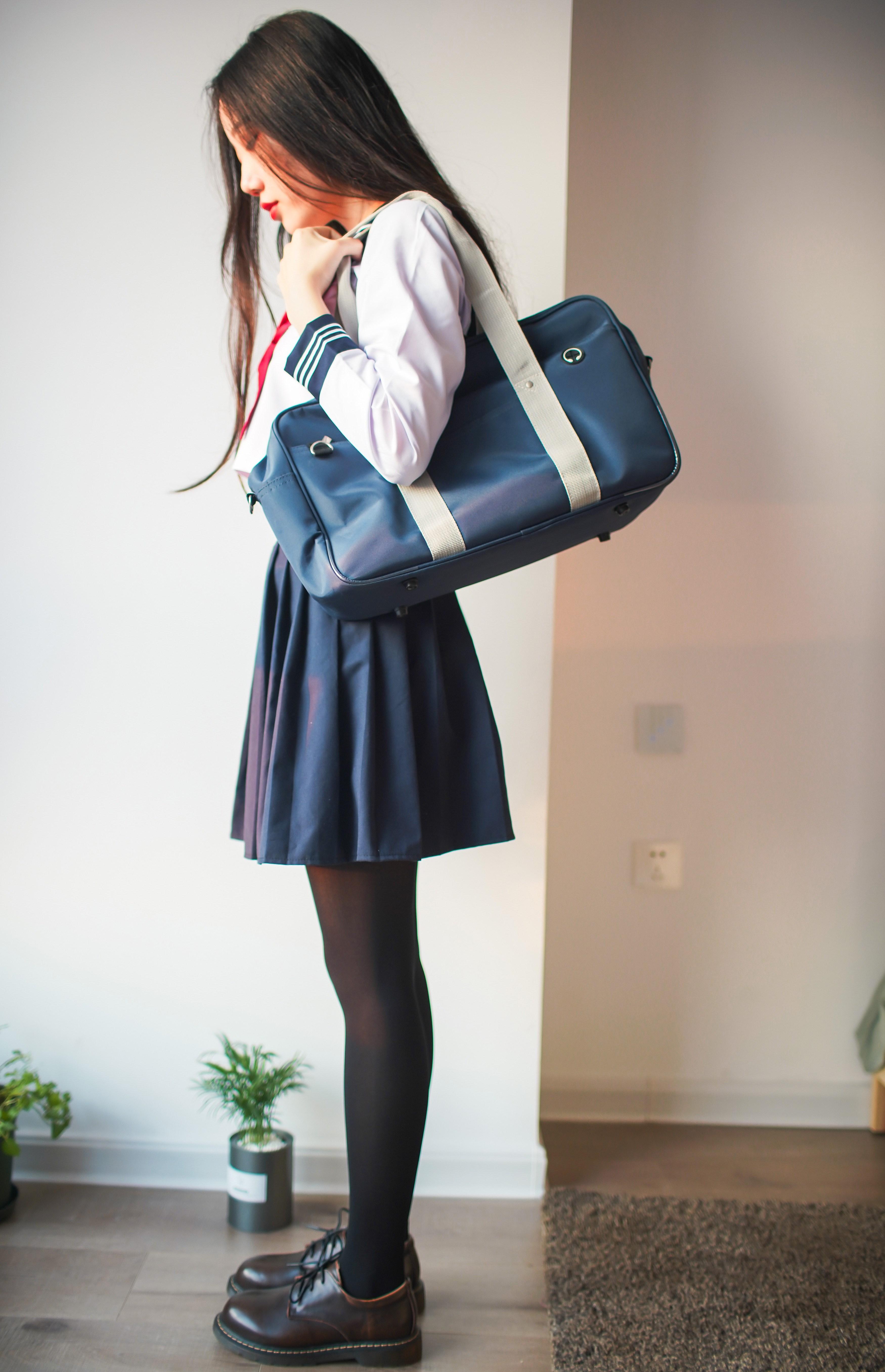 【兔玩映画】牛奶JK连裤袜 兔玩映画 第12张