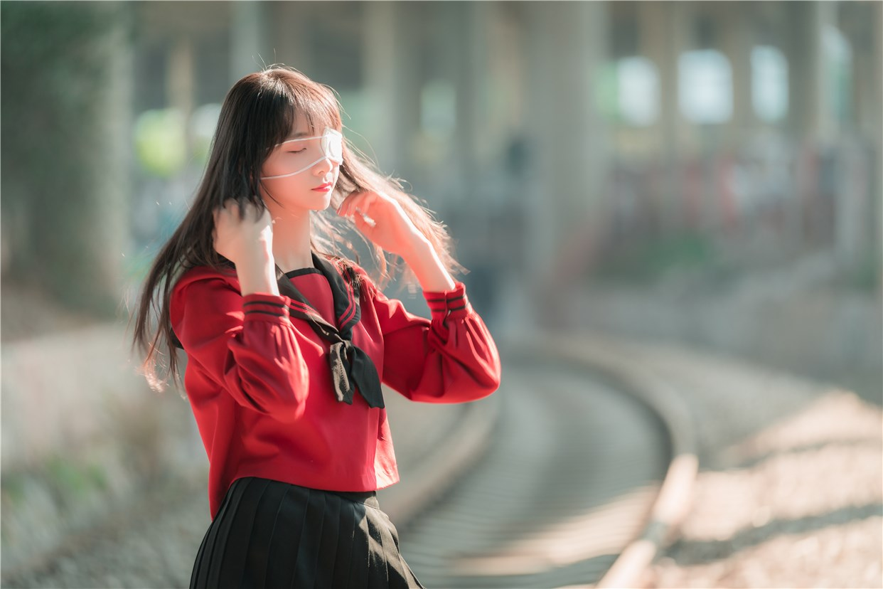 【兔玩映画】奔跑的红色JK 兔玩映画 第30张