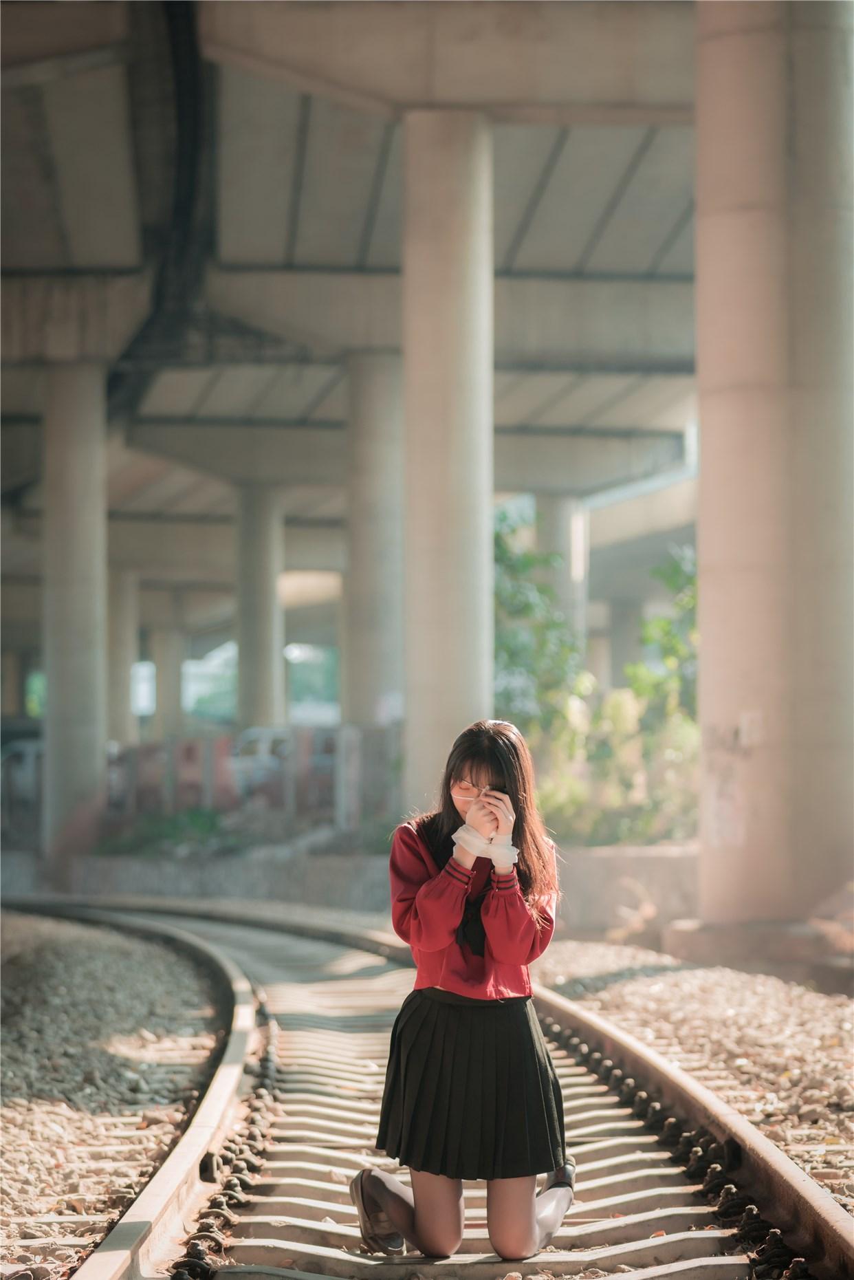 【兔玩映画】奔跑的红色JK 兔玩映画 第31张