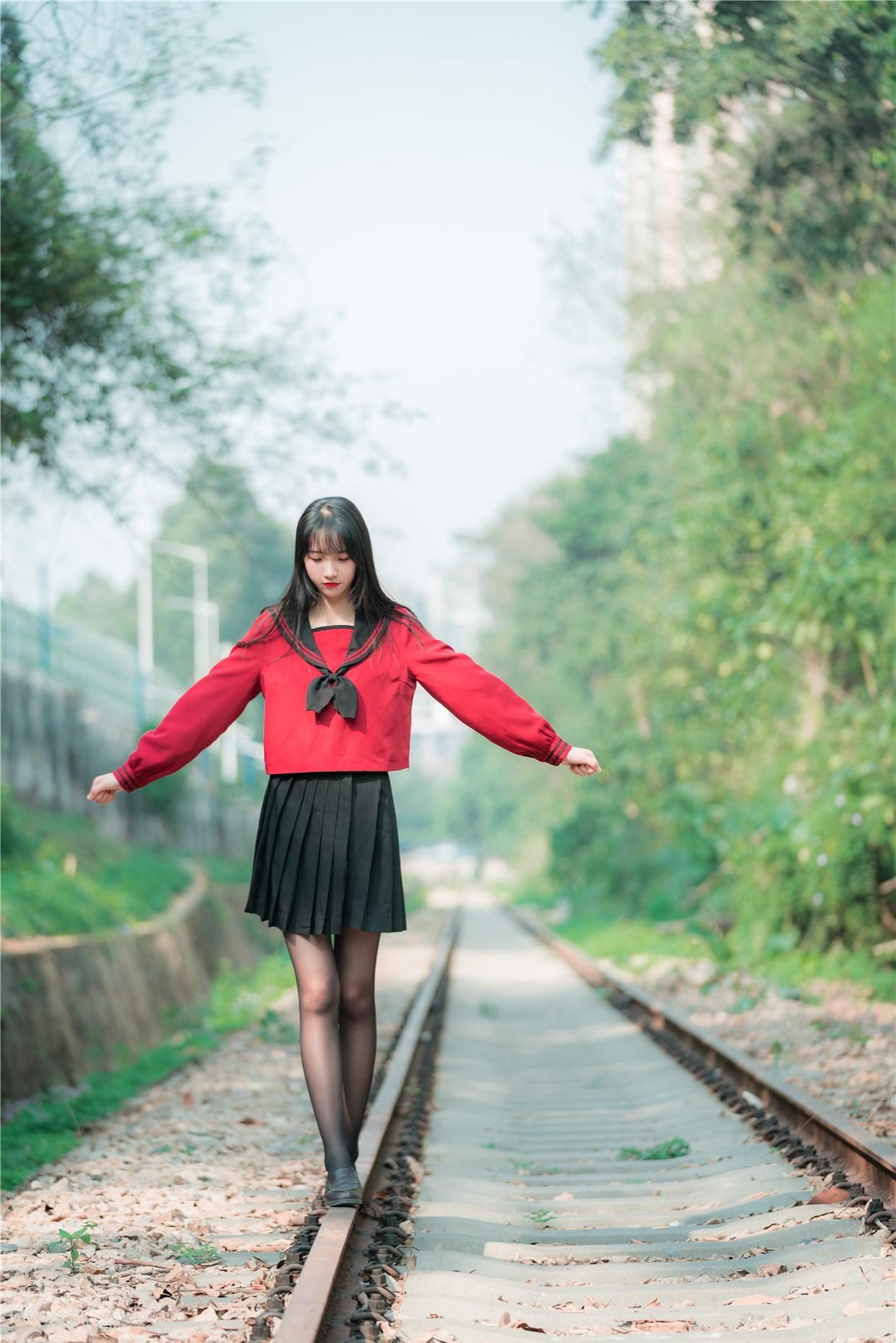 【兔玩映画】奔跑的红色JK 兔玩映画 第27张