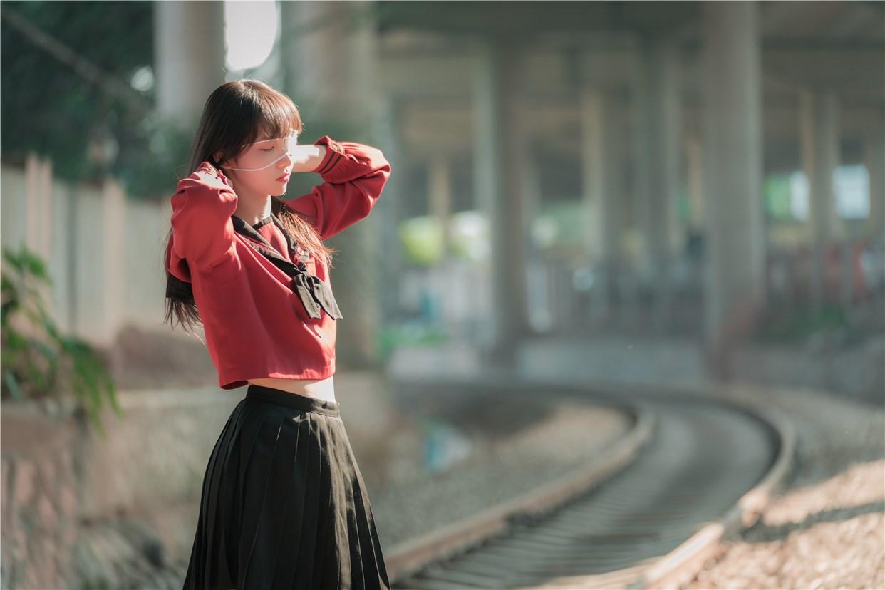 【兔玩映画】奔跑的红色JK 兔玩映画 第23张