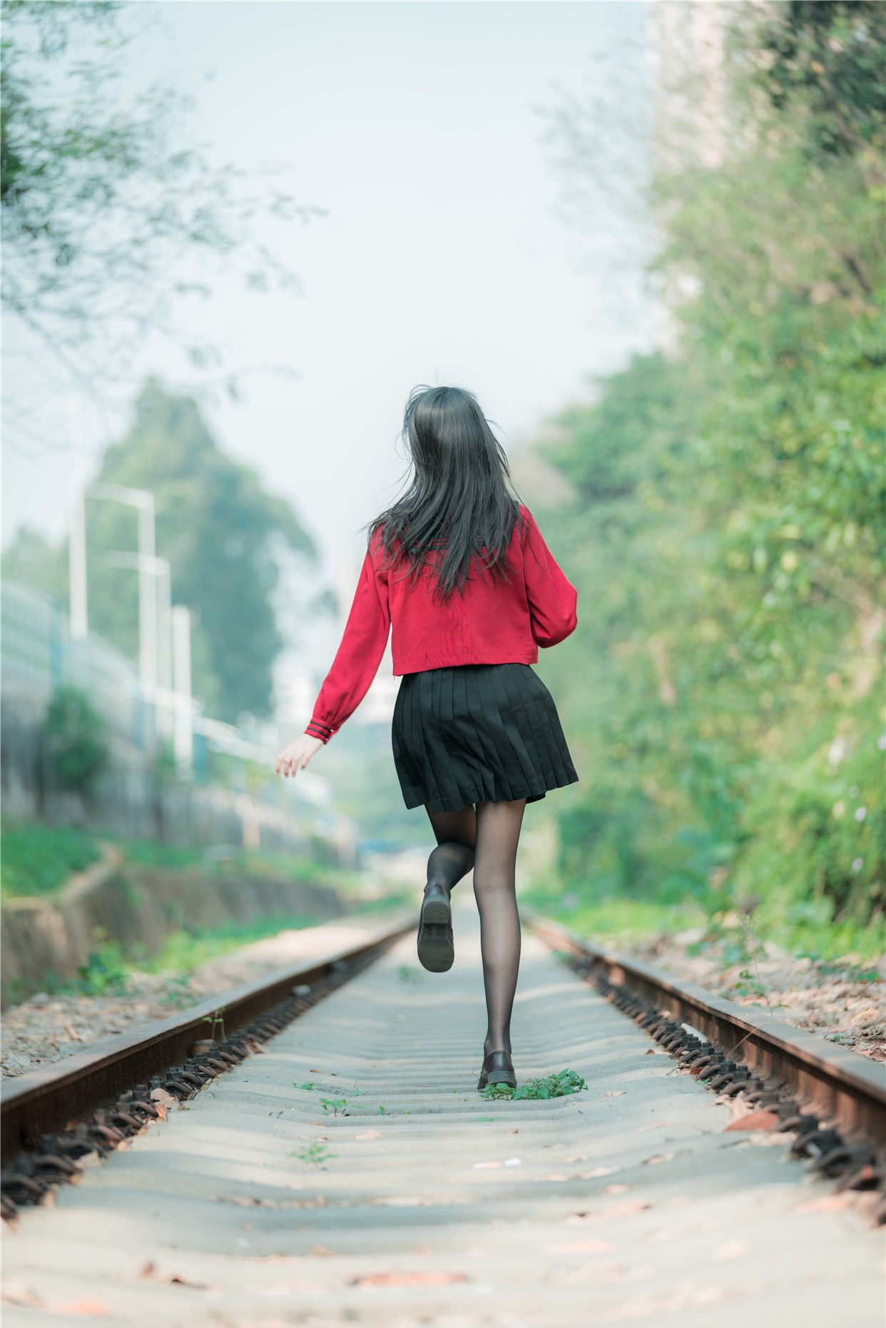 【兔玩映画】奔跑的红色JK 兔玩映画 第25张