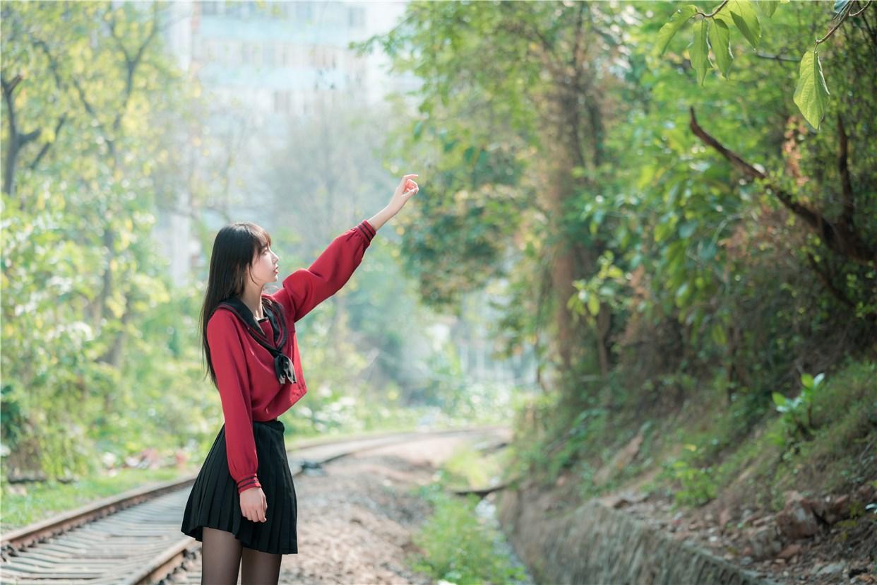 【兔玩映画】奔跑的红色JK 兔玩映画 第14张